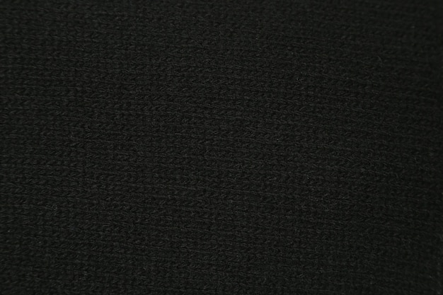 Close-up texture black knitted wool