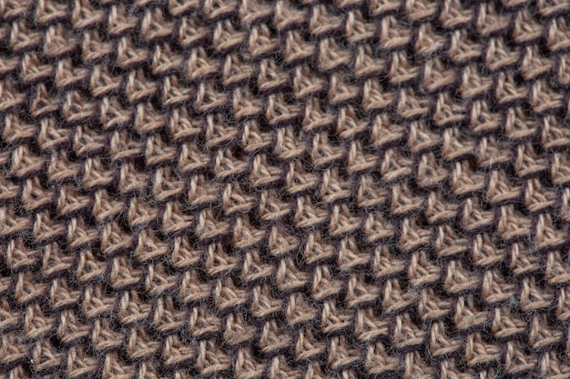 Close-up texture of a knitted fabric of a factory-made