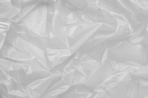 プラスチックのゴミ袋のテクスチャをクローズアップ