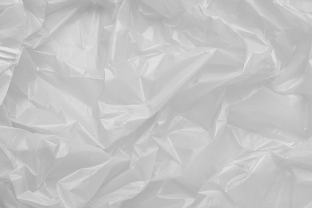 Close up texture of a plastic garbage bag