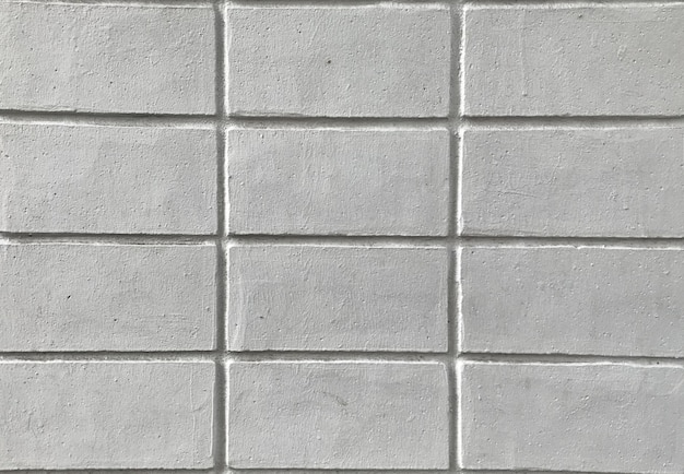 Close up texture of white brick wall for background