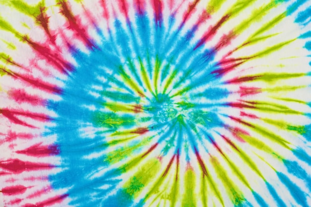 Close up tie dye fabric texture background