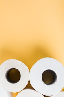 Close-up toilet paper rolls