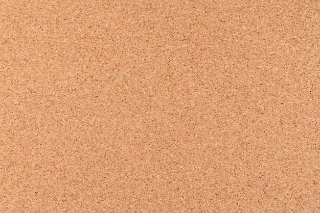 Close up and top view of  brown cork board for background