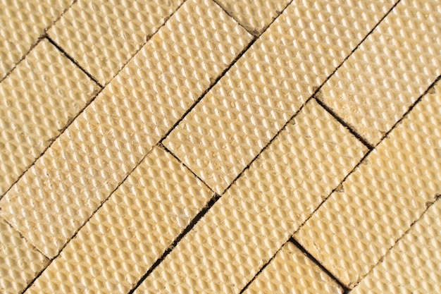 Close up top view of group of wafers. wafer texture for background. stock photo.
