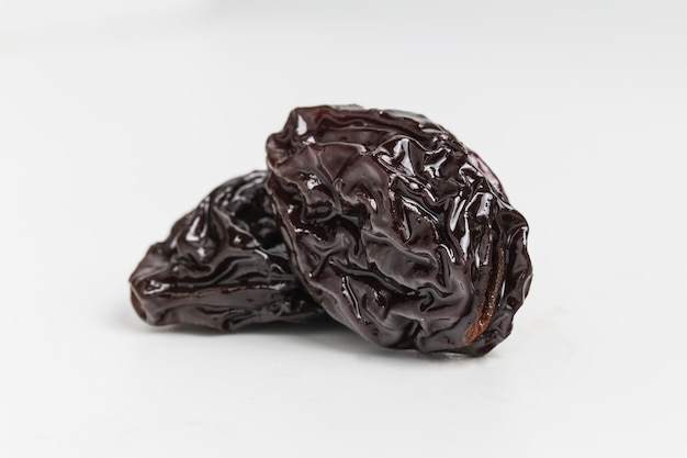 Close-up of two delicious raisins