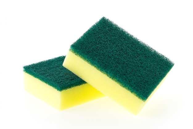 Close-up of two scouring pads