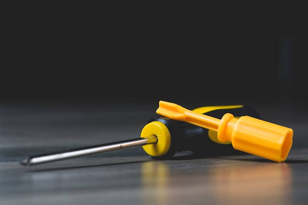 Close-up of two screwdrivers