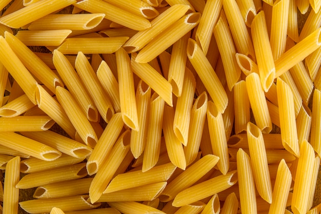 Close-up of uncooked macaroni