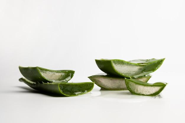 Close-up view of aloe vera beauty concept