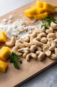 Vista ravvicinata del concetto di ingredienti alimentari asiatici