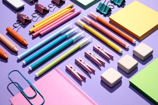 Close-up view of back to school concept