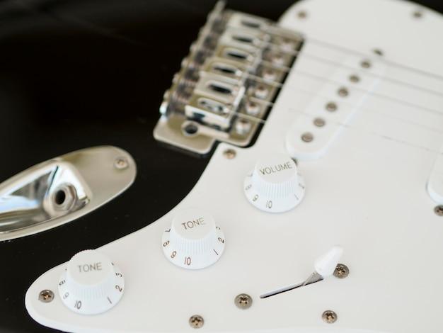 Close-up view of beautiful guitar