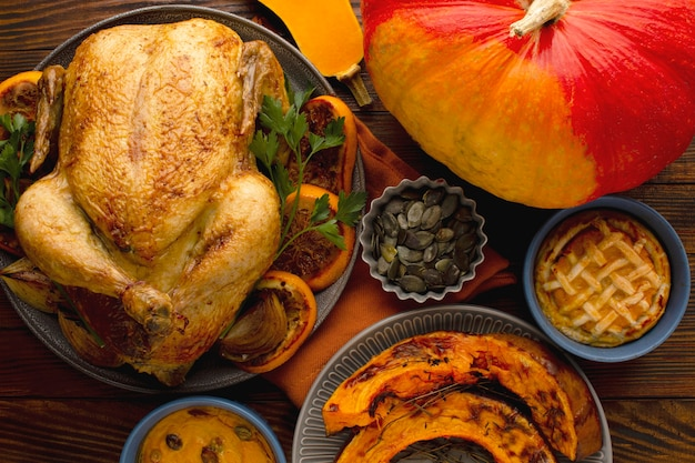 Close-up view of beautiful thanksgiving concept