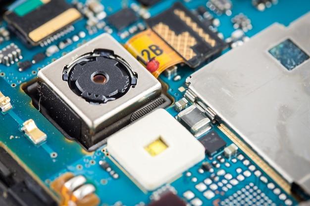 Close up view of camera inside smart phone