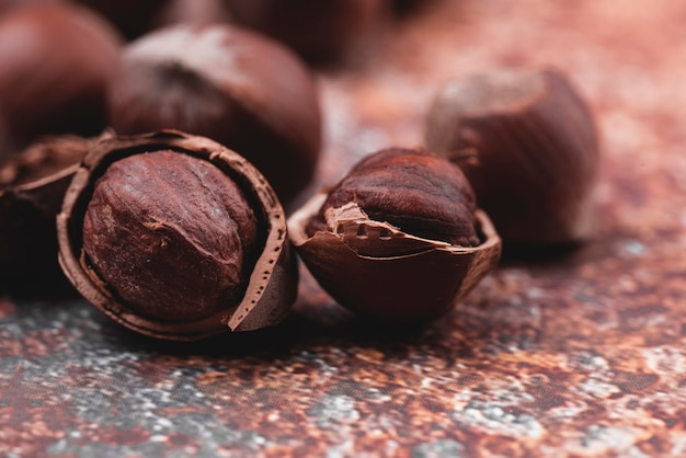Close-up view of chestnuts