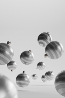 Close-up view of christmas balls concept