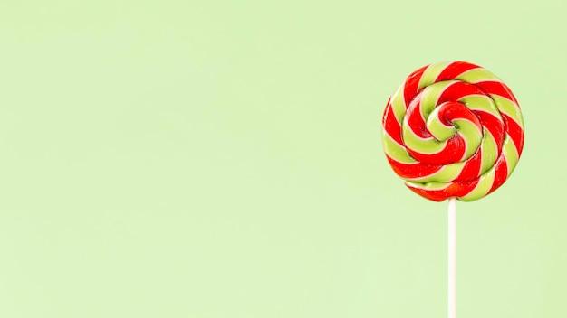 Vista ravvicinata di colorati deliziosi lecca-lecca