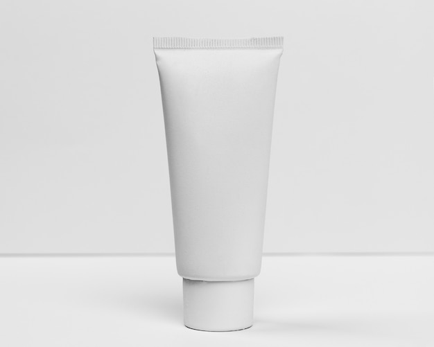 Close-up view of cosmetic cream tube concept