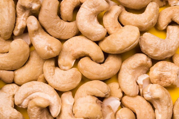 Close-up view of delicious cashew