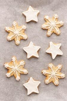 Vista ravvicinata del delizioso concetto di biscotti