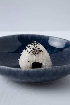 Close-up view of delicious rice balls