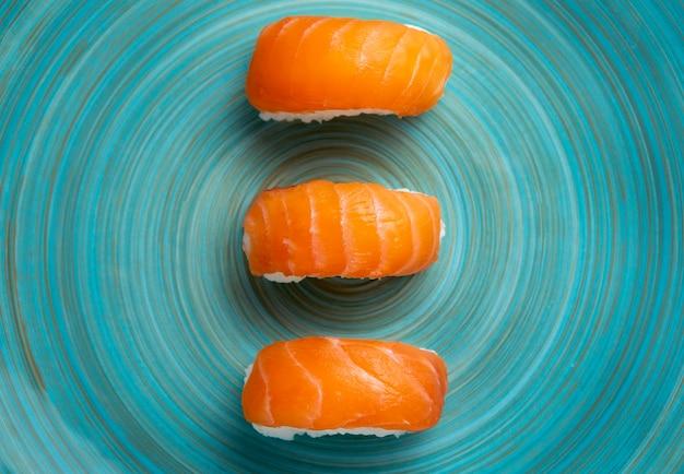 Vista ravvicinata del delizioso concetto di sushi