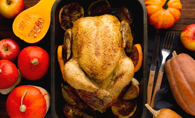 Close-up view of delicious thanksgiving turkey
