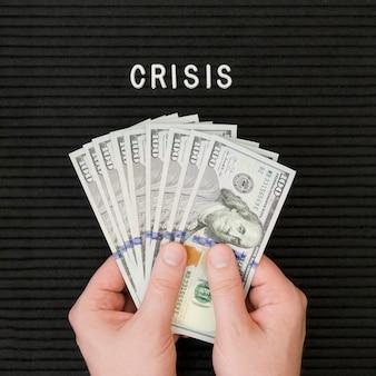 Vista ravvicinata del concetto di economia