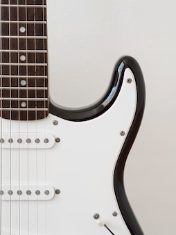 Close-up view of guitar music concept