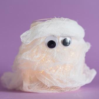 Vista ravvicinata del concetto di fantasma di halloween