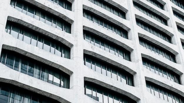 Vista ravvicinata moderni grattacieli edifici per uffici