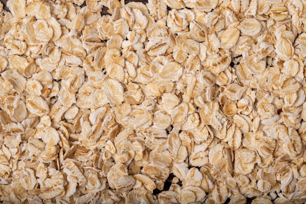 Close-up view of oat-flakes for background uses