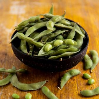 アジアの豆の概念のクローズアップビュー