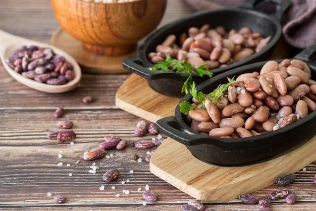 豆の概念のクローズアップビュー