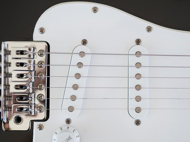 美しいギターのクローズアップビュー