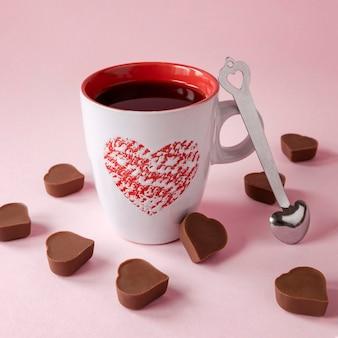 아름 다운 발렌타인 개념의 클로즈업보기