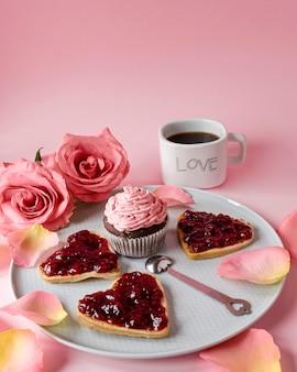 美しいバレンタインデーのコンセプトのクローズアップビュー