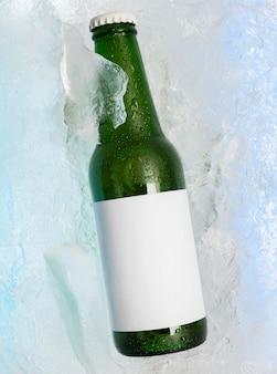コピースペースのあるボトルの拡大図