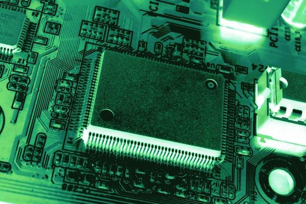 コピースペース用の中央処理装置cpuブランクマイクロチップの拡大図