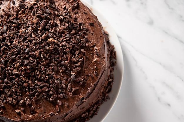 초콜릿 케이크 개념의 클로즈업보기