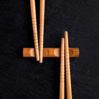 箸の概念のクローズアップビュー