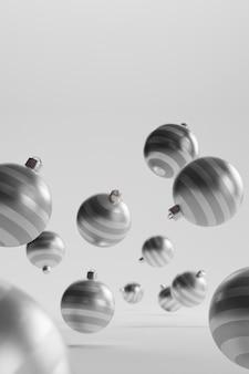 Крупным планом вид рождественских шаров концепции
