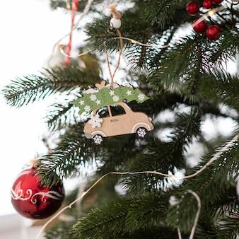 Крупным планом вид рождественской елки