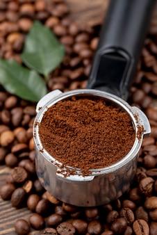 Взгляд конца-вверх концепции кофе