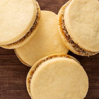 おいしいアルファジョレスクッキーのクローズアップビュー