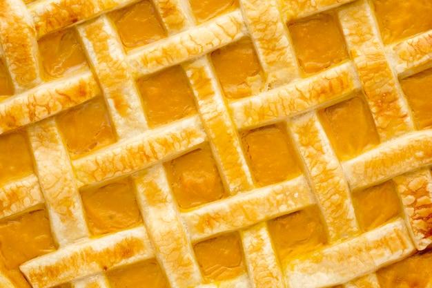 Крупным планом вид вкусного тыквенного пирога