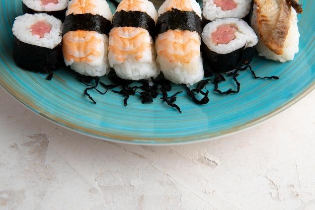 美味しいお寿司のコンセプトのクローズアップビュー