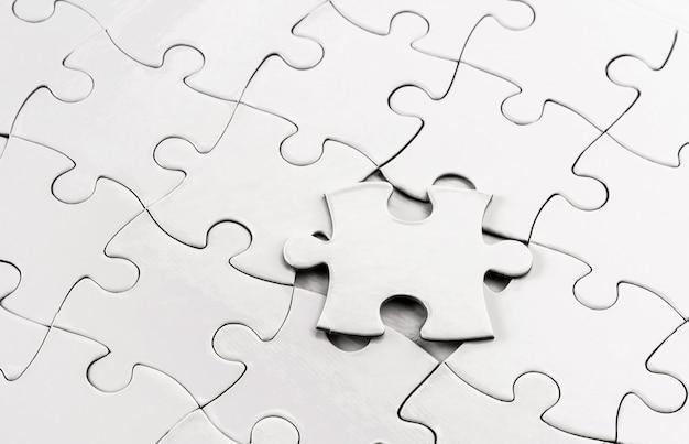 Крупным планом вид пустой головоломки