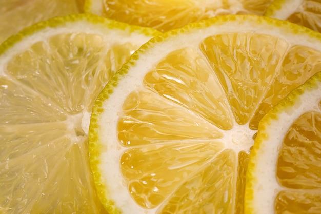 レモンスライスのクローズアップビュー